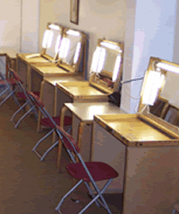 Free standing Make-up mirrors for film & TV locations